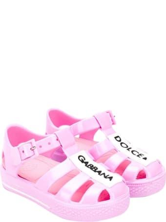 Dolce & Gabbana Sandals With Logo
