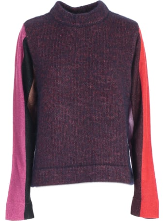 PS by Paul Smith Sweater L/s W/stripe Lurex