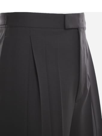 Valentino Wool Trousers With Pleats On The Front