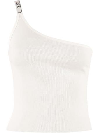 Aries Cotton One-shoulder Top