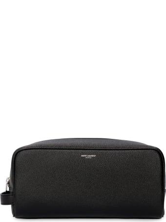 Saint Laurent Leather Wash Bag