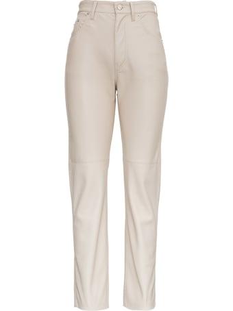 Nanushka Vinni Beige Vegan Leather Pants