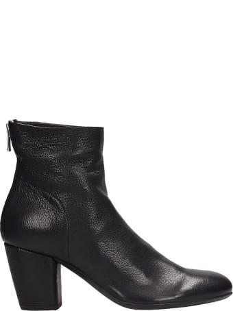 Officine Creative Black Leather Julie Ankle Boots