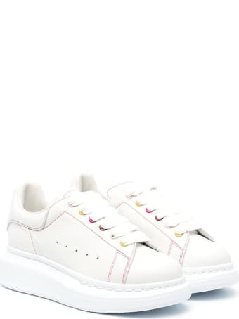 Alexander McQueen Oversize Sneakers In Leather With Contrast Stitching