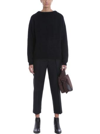 Acne Studios Dramatic Moh Knitwear In Black Wool