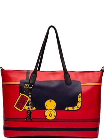 Roberta di Camerino Graphic Lock Shoulder Bag