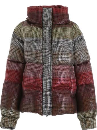 Marco de Vincenzo Rainbow Tartan Puffer Jacket