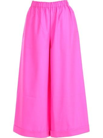 Daniela Gregis Pants Straight Elastic Waist Wool