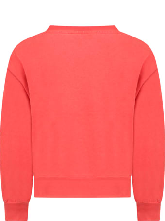 The Animals Observatory Red Sweatshirt For Kids