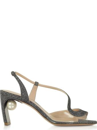 Nicholas Kirkwood Gunmetal 70mm Maeva Pearl S Sandal