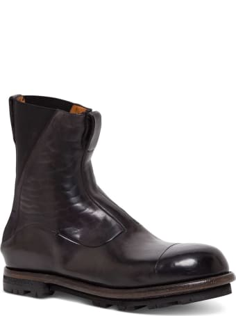 Silvano Sassetti Beatles Blake Boots In Brown Leather