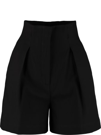 Jucca High-waist Wide-leg Shorts