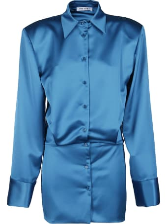 The Attico Lagoon Blue Shirt Dress