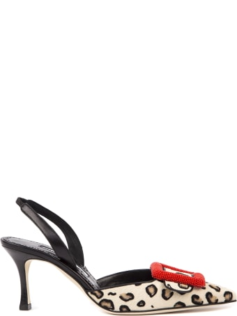 Manolo Blahnik Mafrisi Pony Leather Pumps