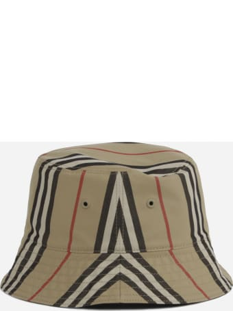 Burberry Cotton Fisherman Hat With Iconic Striped Pattern
