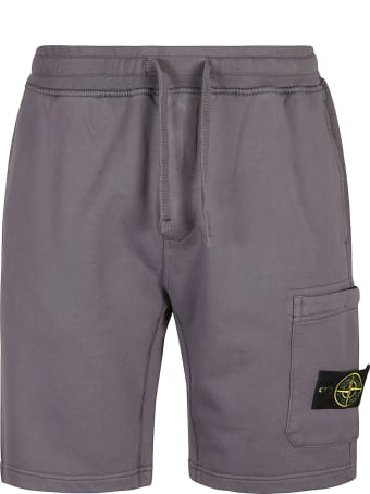 Stone Island Logo Patched Shorts