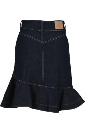 See by Chloé See By Chloe' Flared Denim Skirt