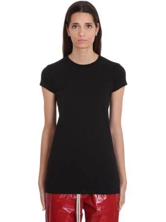 Rick Owens Level Ss T-shirt In Black Cotton