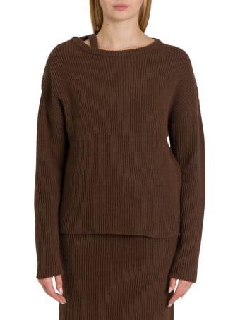 Federica Tosi Ribbed Sweater With Dropped Shoulders
