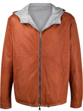 Suprema Leather And Nylon Reversible Jacket