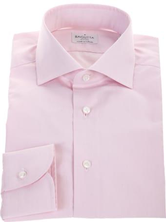 Bagutta pink cotton shirt
