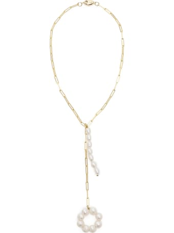 Timeless Pearly Chain Necklace With Pearls