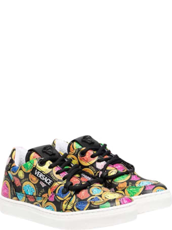 Young Versace Medusa Sneakers