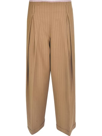 Ibrigu Straight-leg Striped Trousers