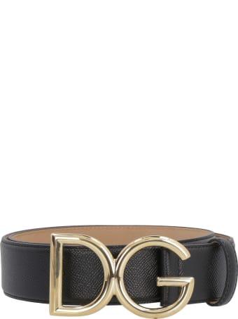 Dolce & Gabbana Grainy Leather Belt