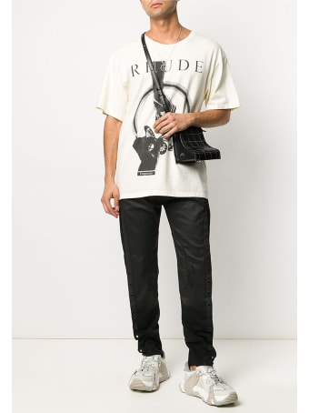 Rhude Passig Butterfl T-shirt In White Cotton