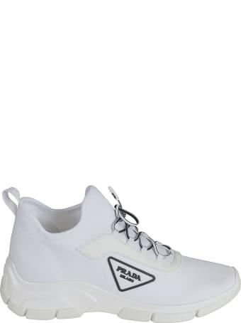 Prada Side Embossed Logo Sneakers