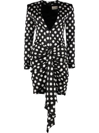Giuseppe di Morabito Polka-dot Print Silk Mini Dress
