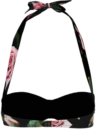 Dolce & Gabbana Dolce&gabbana Rose Print Bikini Top