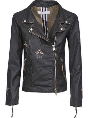 Bully Star Patched Zip Biker Jacket