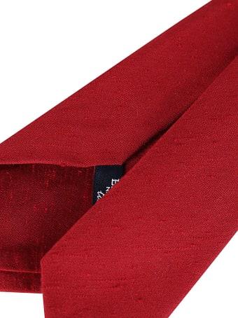 Barba Napoli Red Silk Tie