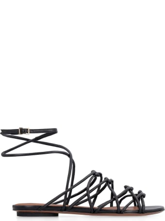 L'Autre Chose Woven Leather Slippers