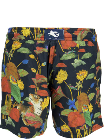 Etro Swimsuit With Tiger And Water Lily Print