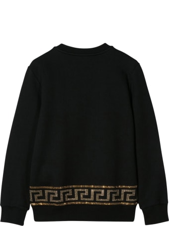 Young Versace Sweatshirt With Decorated Logo