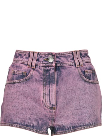 Balmain Logo Denim Shorts