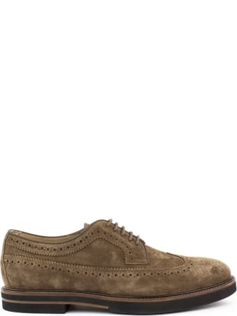 Tod's Lace Ups In Brown Suede