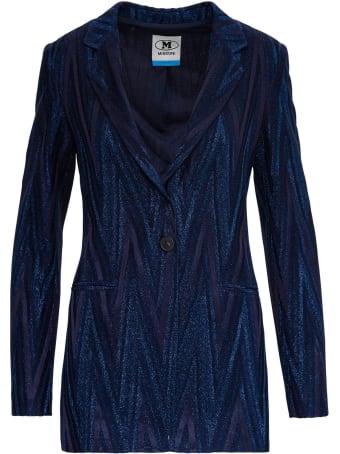M Missoni Lurex Blazer With Zig Zag Motif