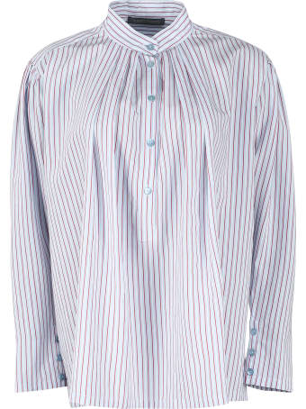 Alberta Ferretti Striped Viscose Blend Shirt
