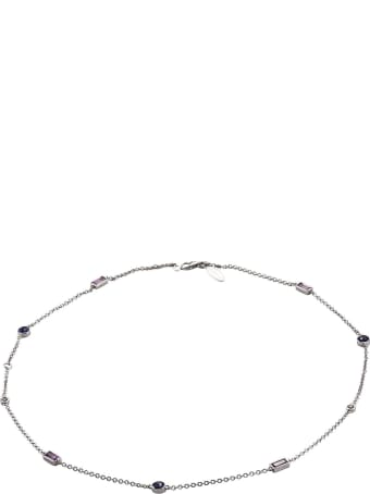 Lo Spazio Jewelry Lo Spazio Blue , Pink Sapphire and Diamond Necklace