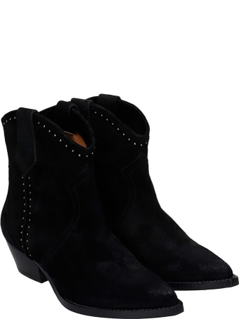 The Seller Texan Ankle Boots In Black Suede