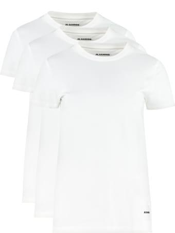Jil Sander Set Of Three Cotton T-shirt