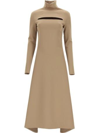 A.W.A.K.E. Mode Midi Dress With Cut Out
