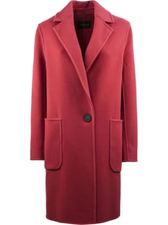 Antonelli Coral-tone Coat In Virgin Wool