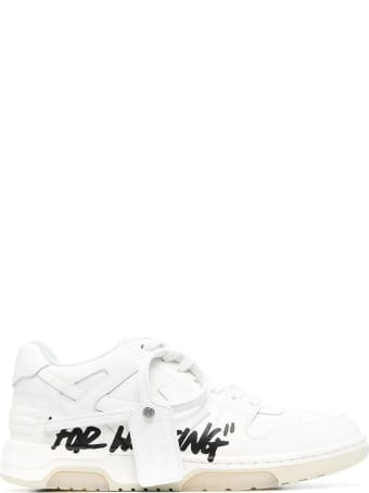 "Off-White Man White ""out Of Office"" Sneakers"