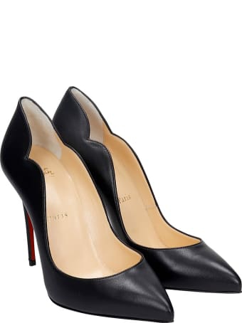 Christian Louboutin Hot Chick 100 Pumps In Black Leather