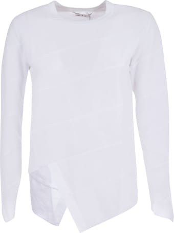 Comme des Garçons Comme des Garçons Asymmetric Hem Long-sleeved T-shirt